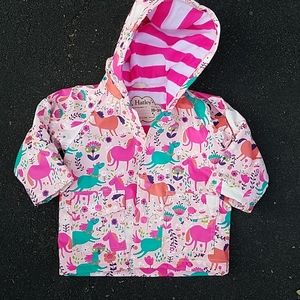 NWOT Hatley Horses and Flowers Raincoat